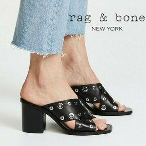 Rag & Bone Paige Mules Open Toe Clogs Slide Sandal